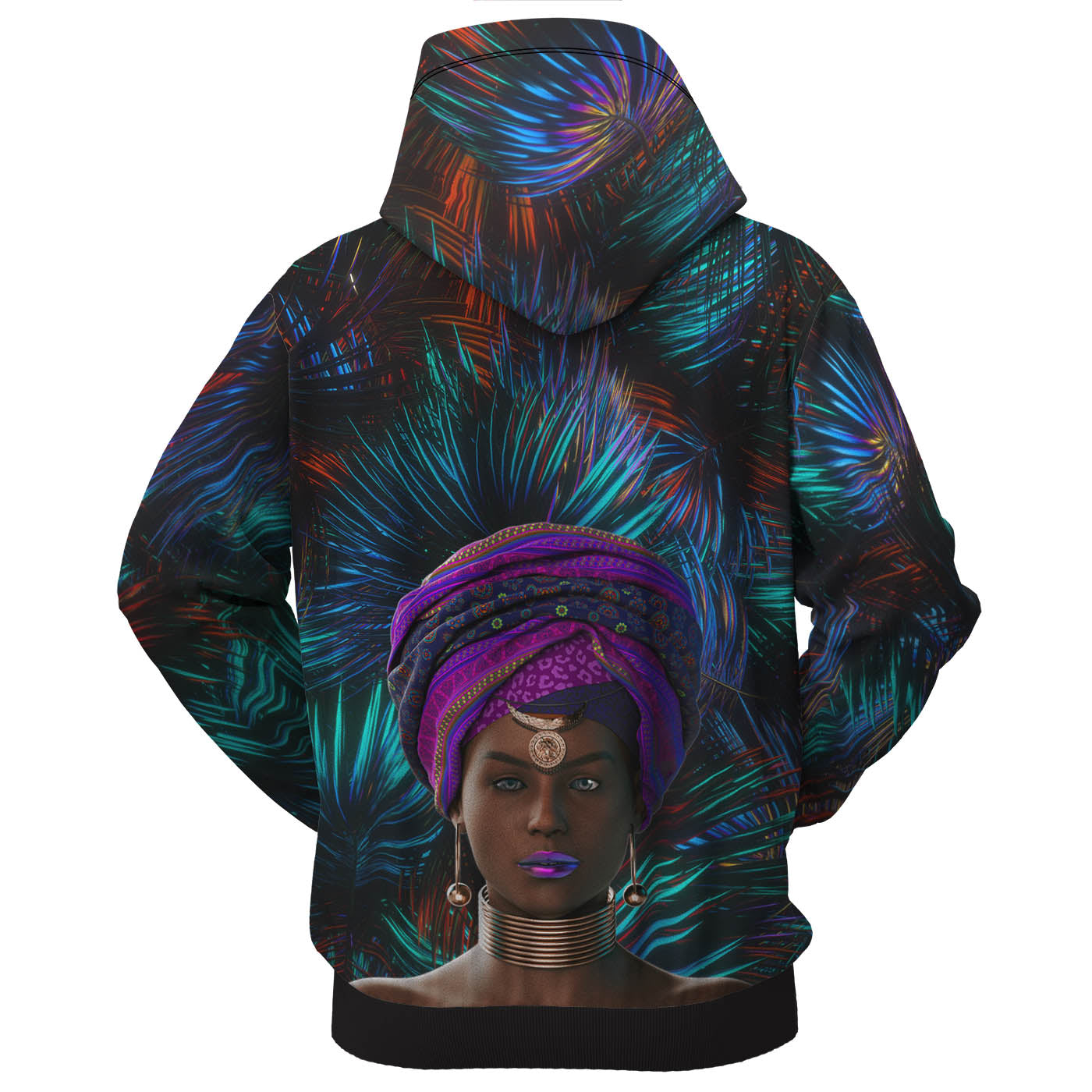 Queen Of Shadows Zip Up Hoodie