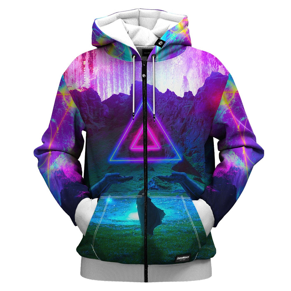 Neon Night Zip Up Hoodie