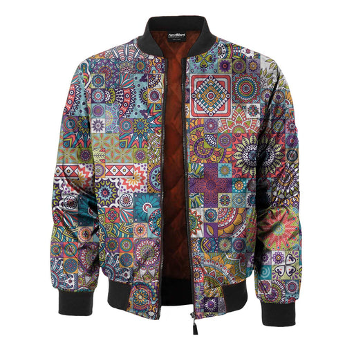 Tribal Mosaic Bomber Jacket