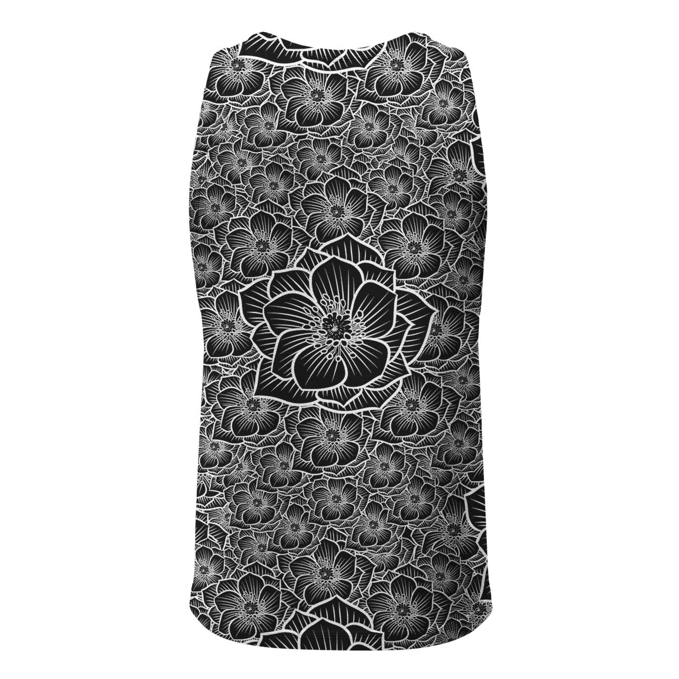 Achromic Flower Tank Top