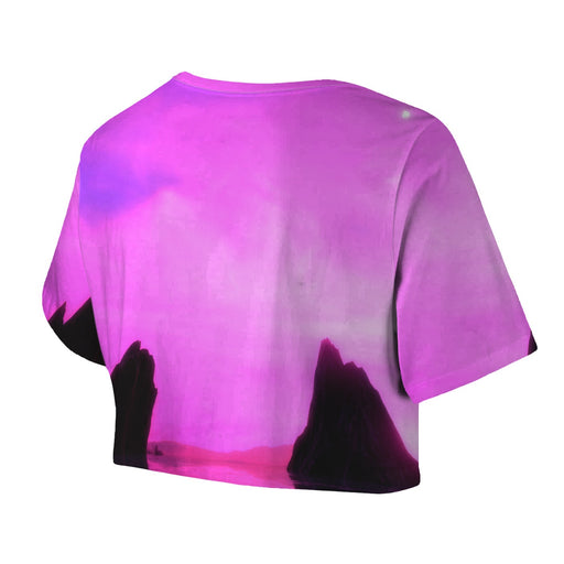 Purple World Crop Top