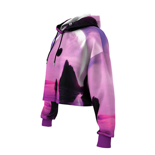 Purple World Cropped Hoodie
