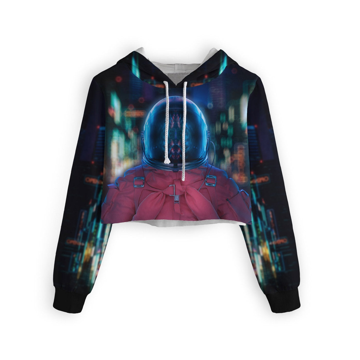 Mentally Blurred Cropped Hoodie