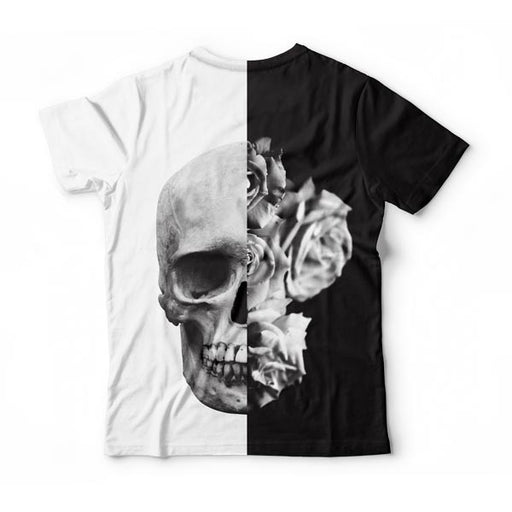 Black & White Skull T-Shirt