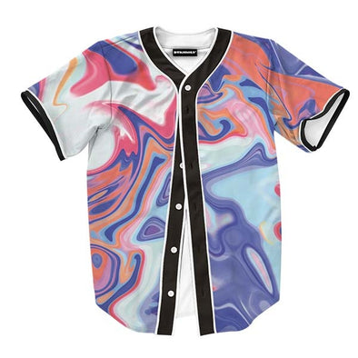 Abstract Red Liquid Jersey