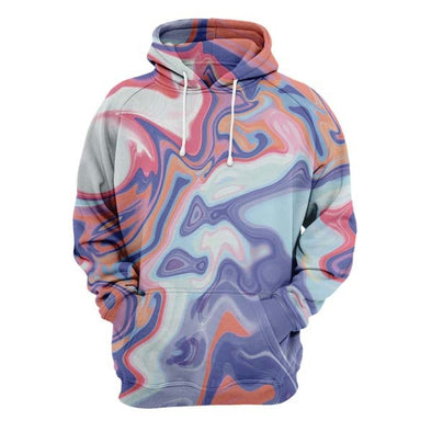 Abstract Red Liquid Hoodie