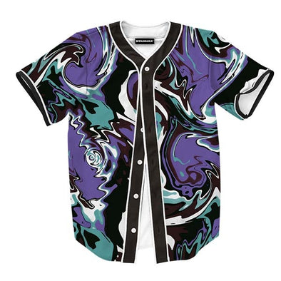 Abstract Green Liquid Jersey