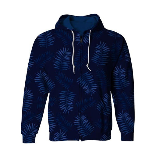 Off Blue Zip Up Hoodie