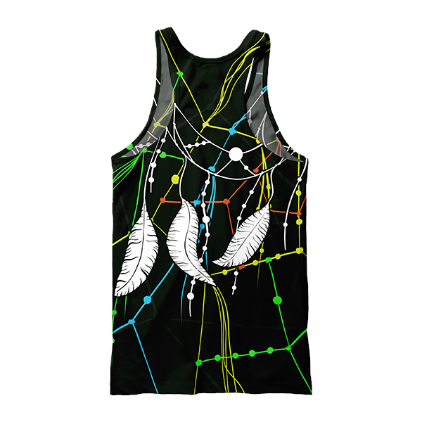 Sacral Feathers Tank Top