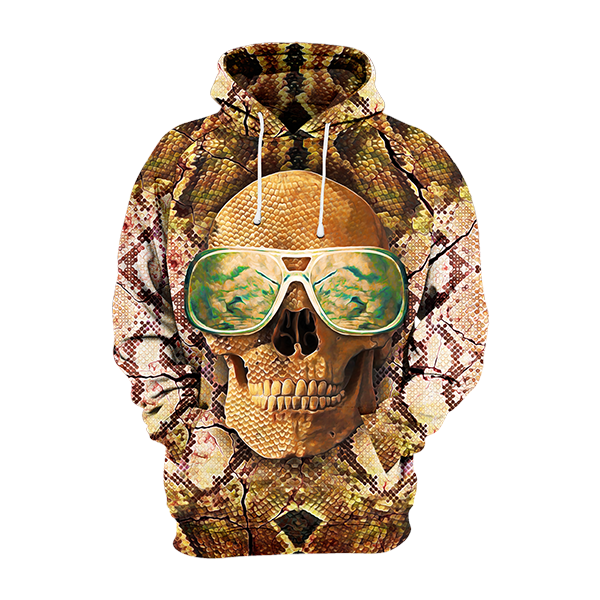 Skull with Glasses Hoodie