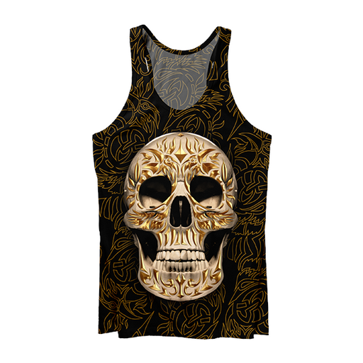 Carved Skull Tank Top