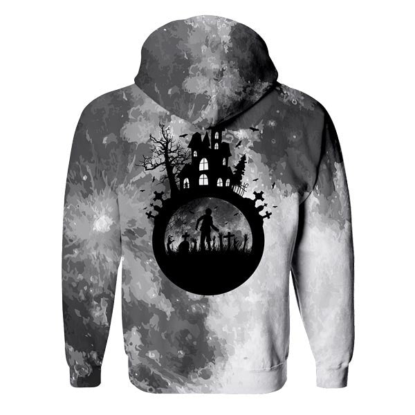 Haunted House Zip Up Hoodie