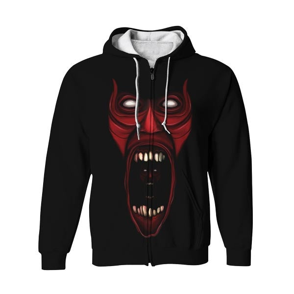 I Am Real Zip Up Hoodie