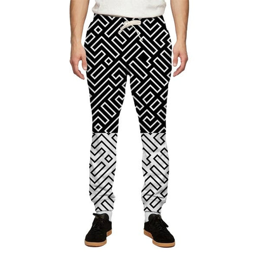 Gridded Sweatpants