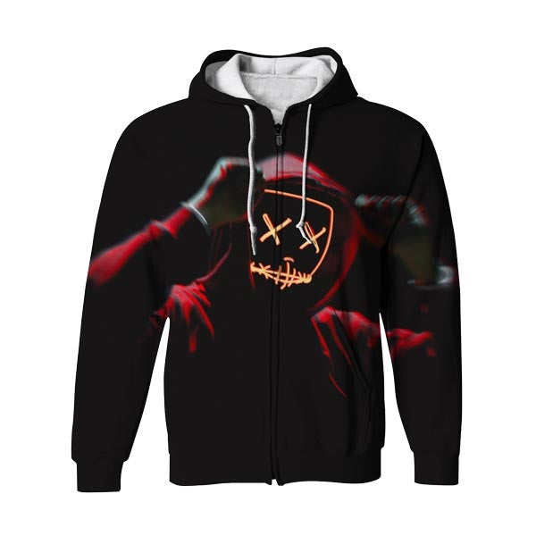 Glowing Man Zip Up Hoodie