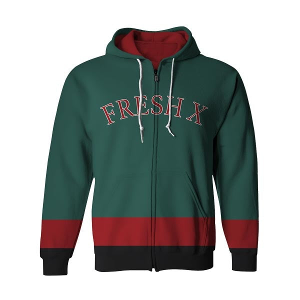 Fresh X Tricolor Zip Up Hoodie