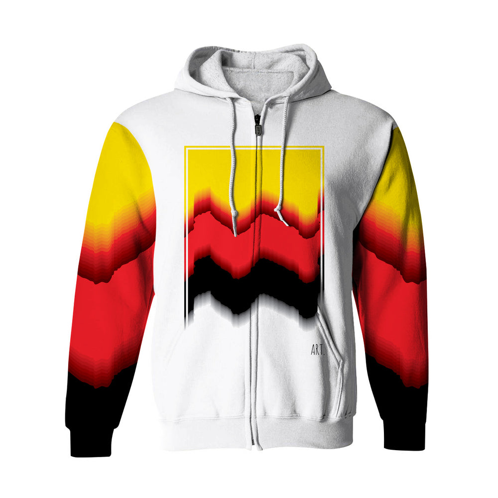 Abstract Art. Zip Up Hoodie
