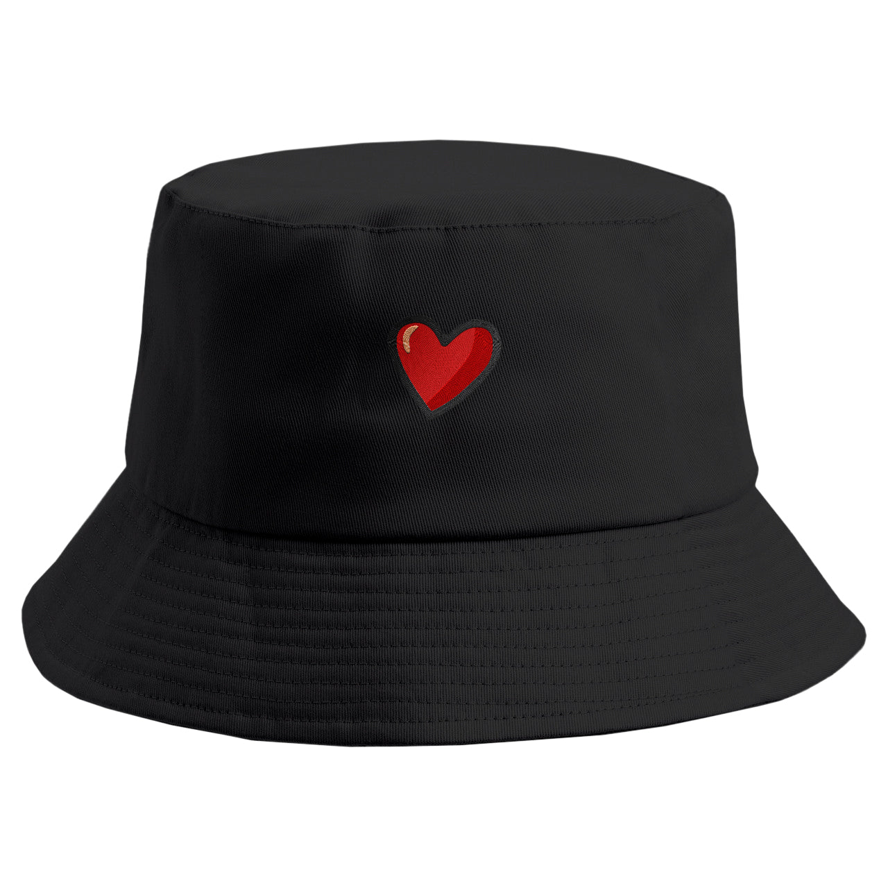 Embroidered Heart Bucket Hat
