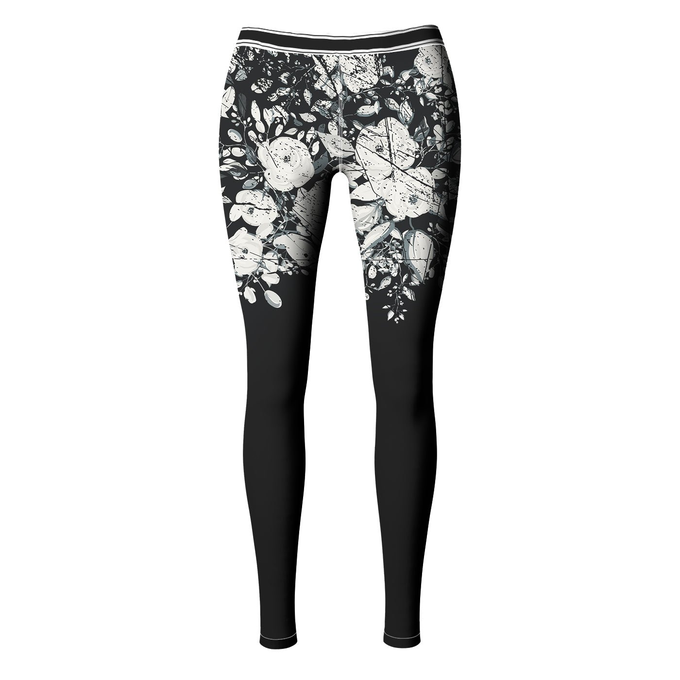 White Rose Blossom Leggings