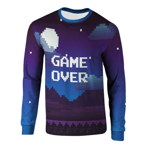 Pixel Game Over Long Sleeve Shirt