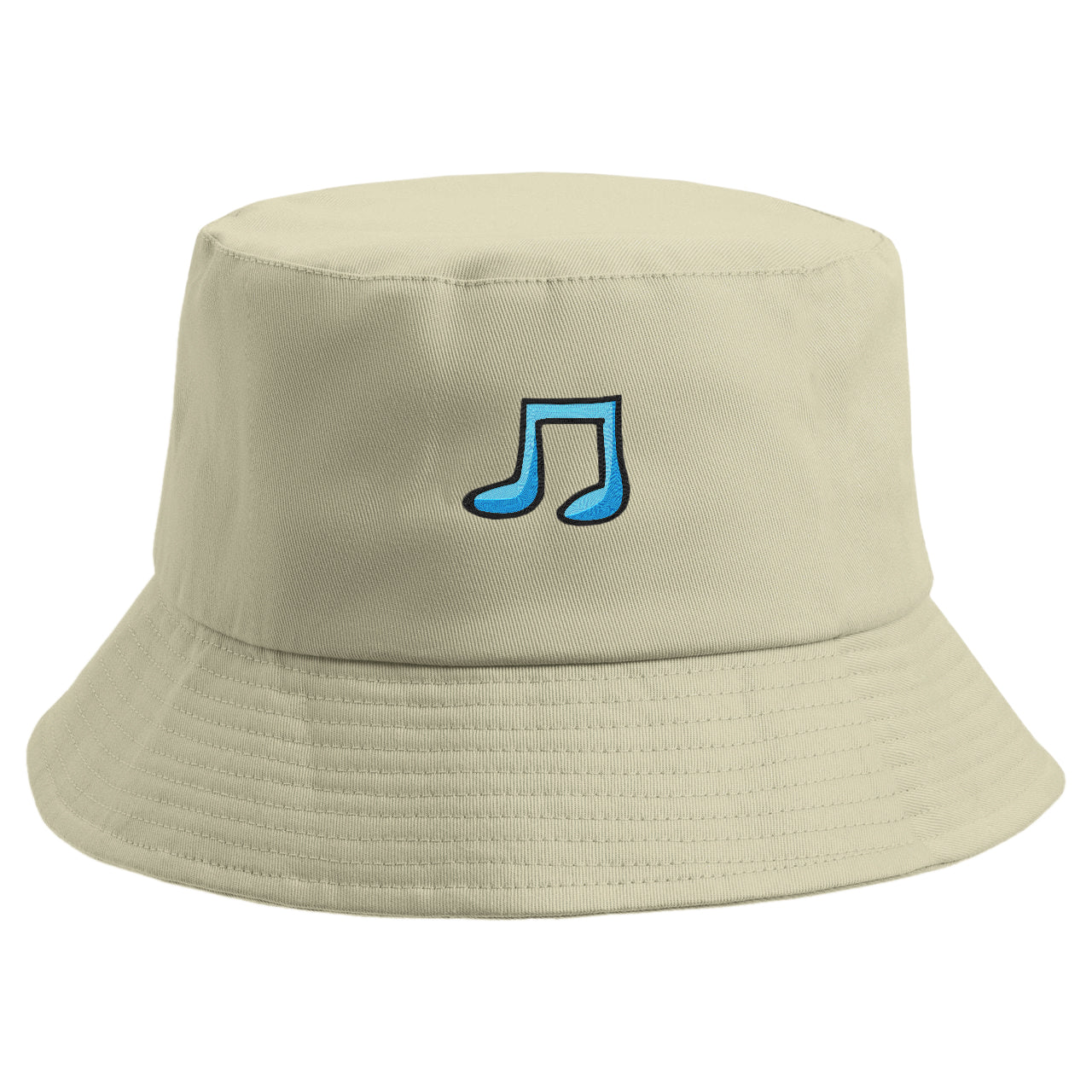 Embroidered Musical Note Bucket Hat