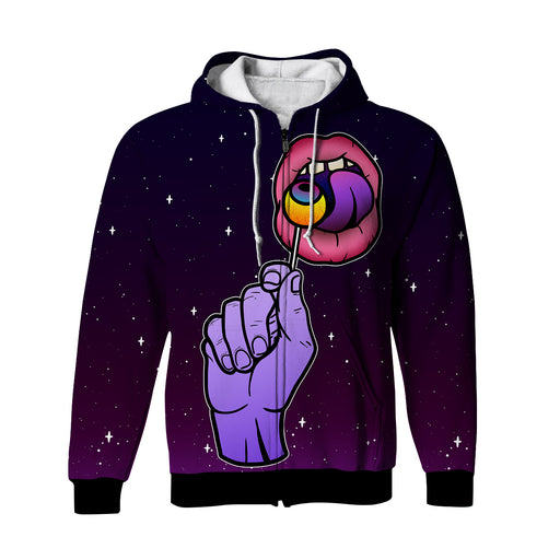 Lolly Poppin' Zip-Up Hoodie