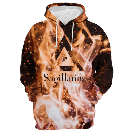 Sagittarius In The Flames Hoodie