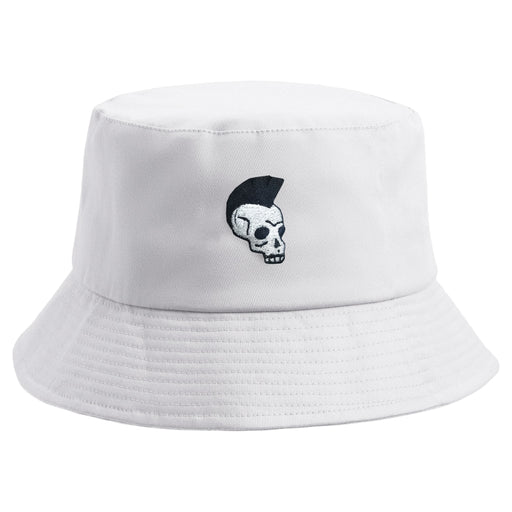 Embroidered Mohawk Skull Bucket Hat