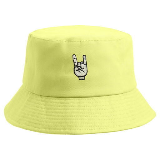 Embroidered Rock On Bucket Hat