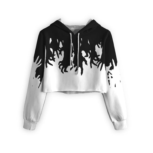 Zombies Hands Cropped Hoodie