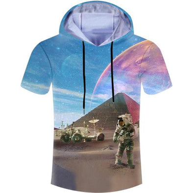 Mystical Planet Hooded T-Shirt