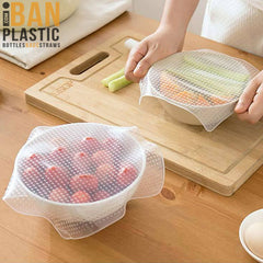 4 Reusable Silicone Food  Covers