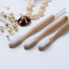3x Natural Bamboo Eco Friendly Toothbrush