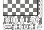 Paper Chess Set in Black & White