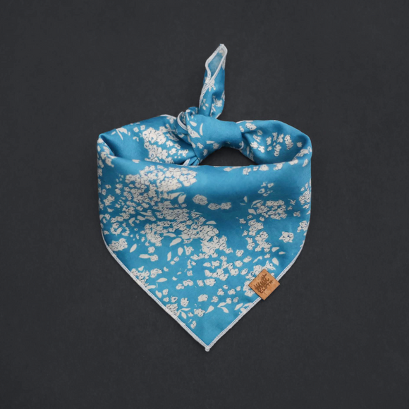 Salt (Bright Blue) - Mutt Cloth Dog Bandana