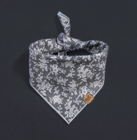 Porcelain (Grey) - Mutt Cloth Dog Bandana