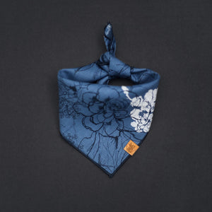 Primrose (Blue) - Mutt Cloth Dog Bandana