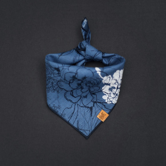 Primrose (Blue) *PRE-ORDER* - Mutt Cloth Dog Bandana