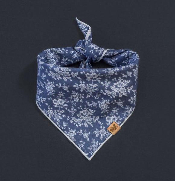 Porcelain (Blue) - Mutt Cloth Dog Bandana