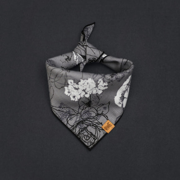 Primrose (Grey) - Mutt Cloth Dog Bandana