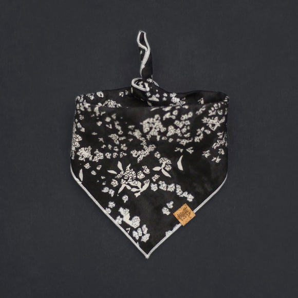Salt (Black) *BACK-ORDERED* - Mutt Cloth Dog Bandana
