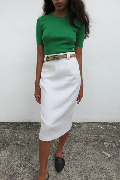 Vintage Slit Pocket Pencil Skirt