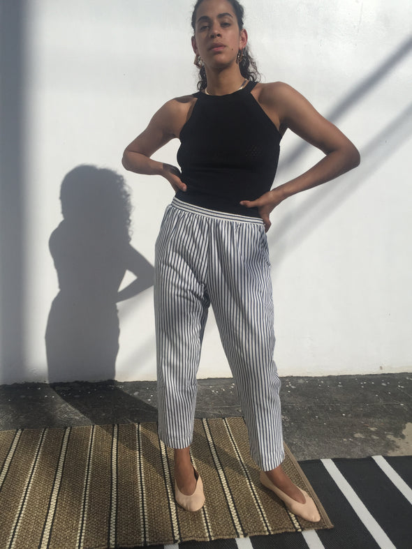 Vintage Nautical Striped Lounge Pants
