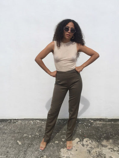 Vintage Moschino Cheap and Chic Slit Pants