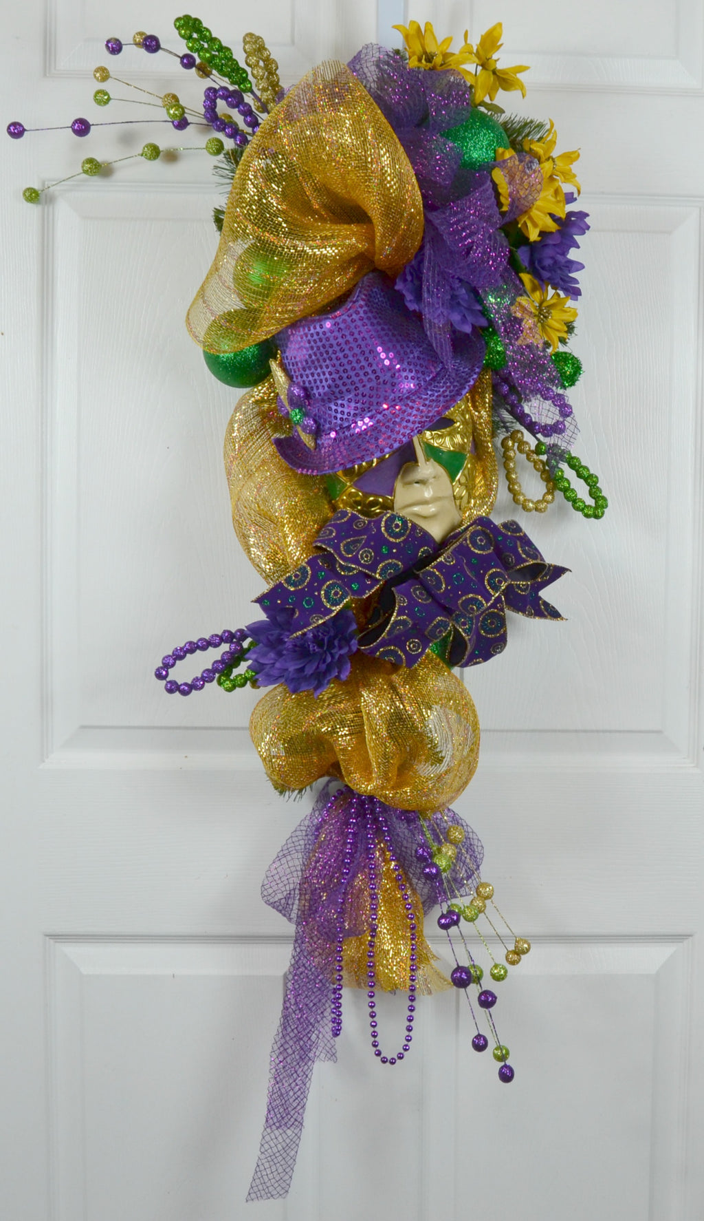 Anais Mardi Gras Signature Style Swag with Jester Mask