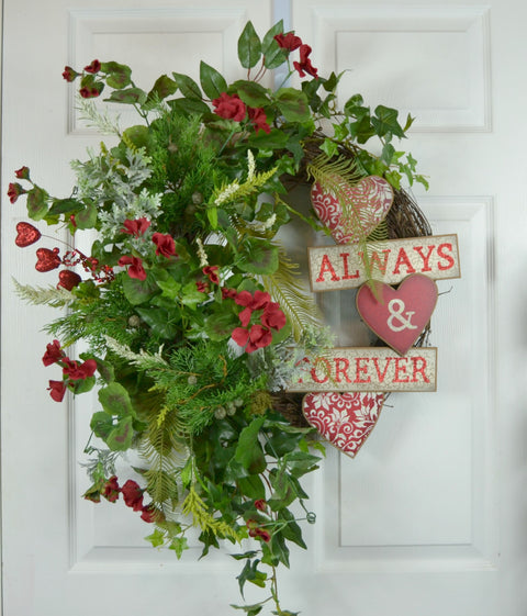 Charmed Valentine's Day Front Door Wreath