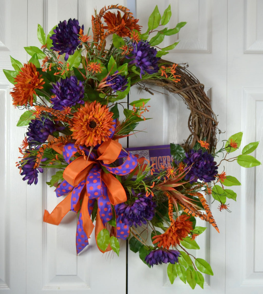 South Carolina Clemson Football Wreath