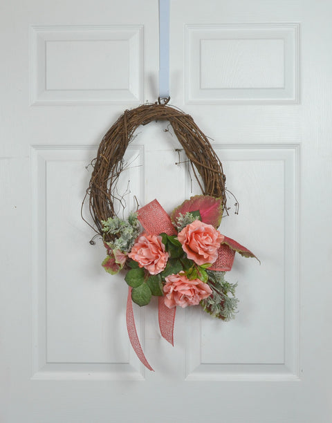 Coral Front Door Wreath for your RV, Motorhome, and Camper