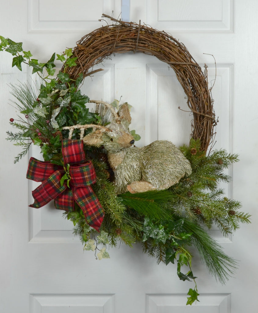 Deer in the Woods Winter Holiday Wreath