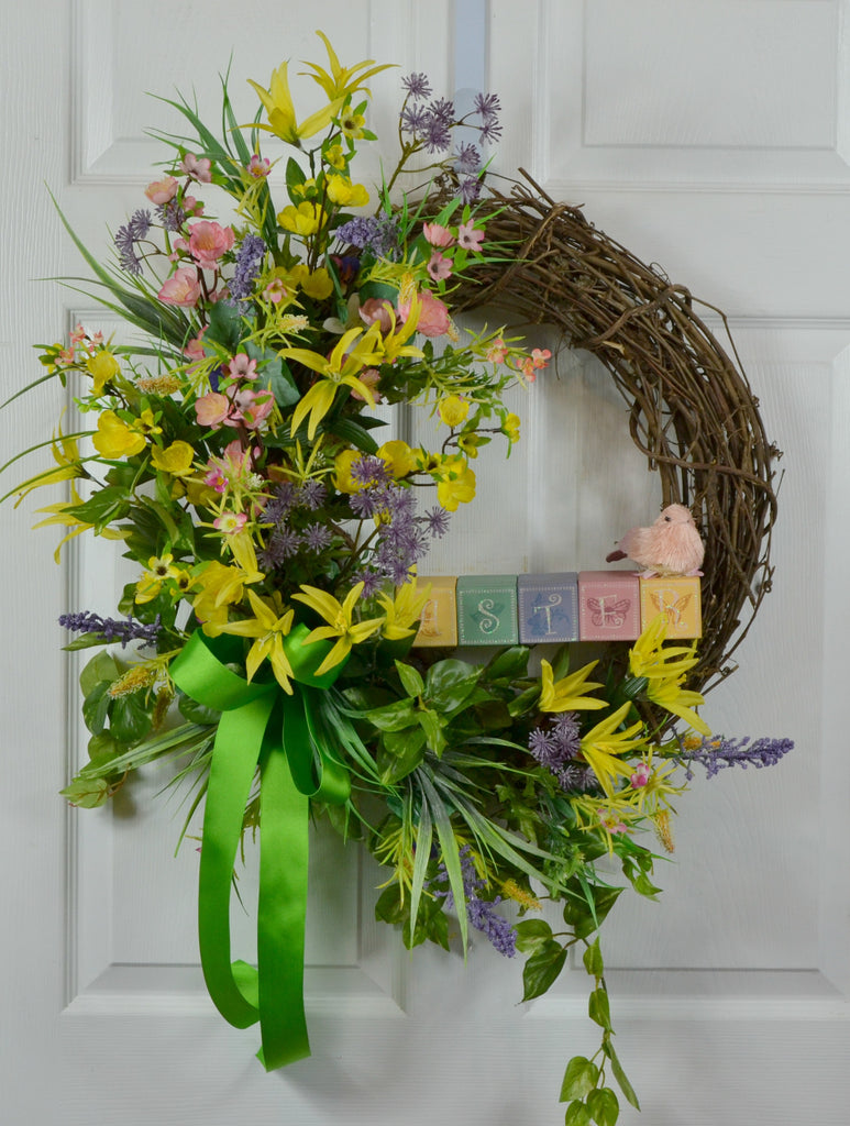 Easter Spring Floral Wreath